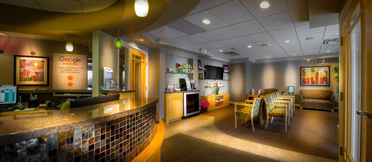 Dental office Rochester Hills lobby