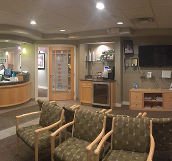 Waiting room dental office in Rochester Hills, MI