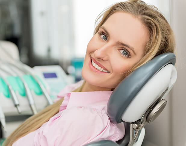 lady in a dental chair