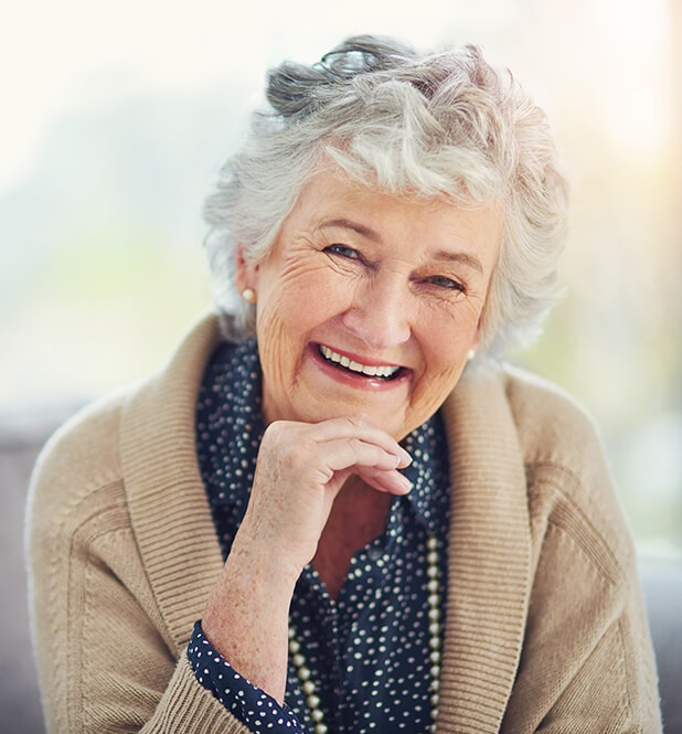 lady with dentures